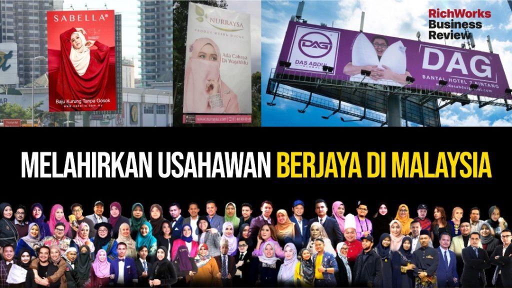 melahirkan usahawan berjaya di Malaysia