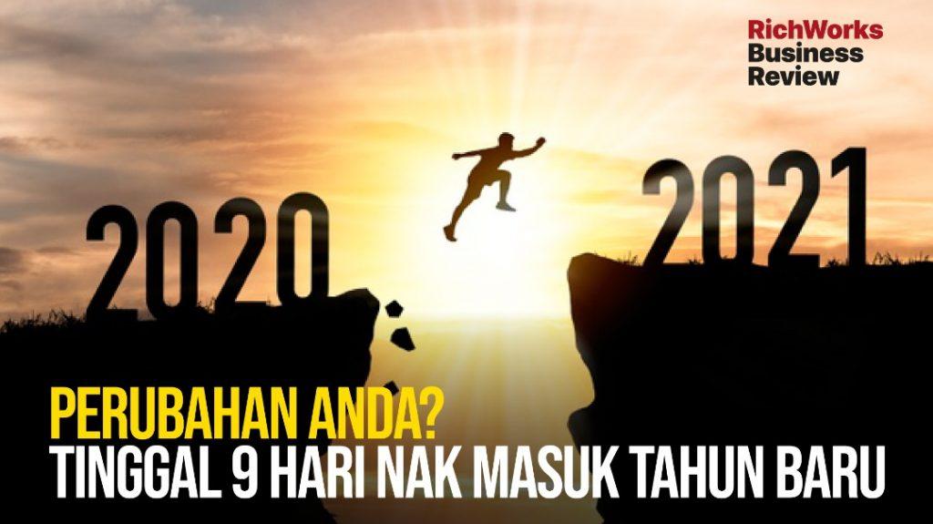 Apa perubahan diri yang anda lakukan, Tinggal 9 hari nak masuk tahun baru
