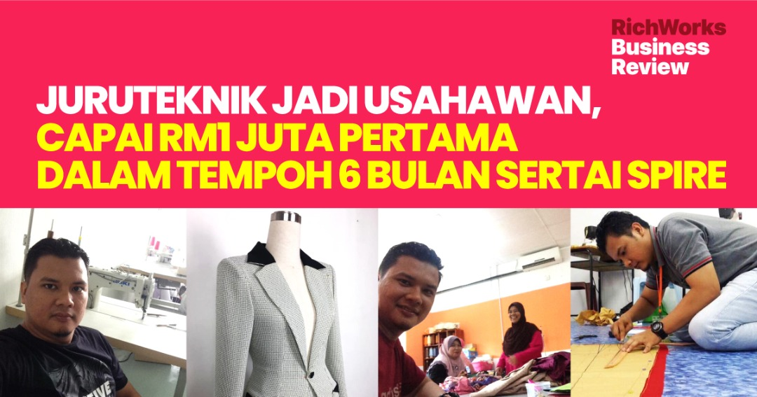 Squcci: Juruteknik Jadi Usahawan, Capai RM1 Juta Pertama Dalam Tempoh 6 Bulan Sertai SPIRE