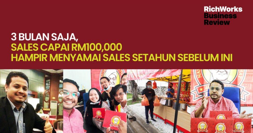 Nasi Briyani Hj Ali Batu Pahat : 3 Bulan Saja, Sales Capai RM100,000 Hampir Menyamai Sales Setahun Sebelum ini