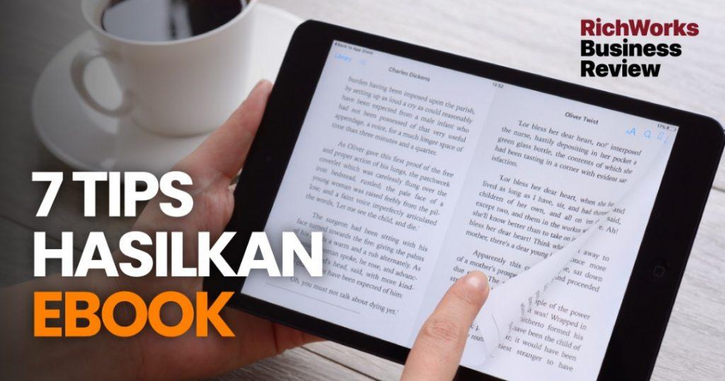 7 Tips Hasilkan eBook