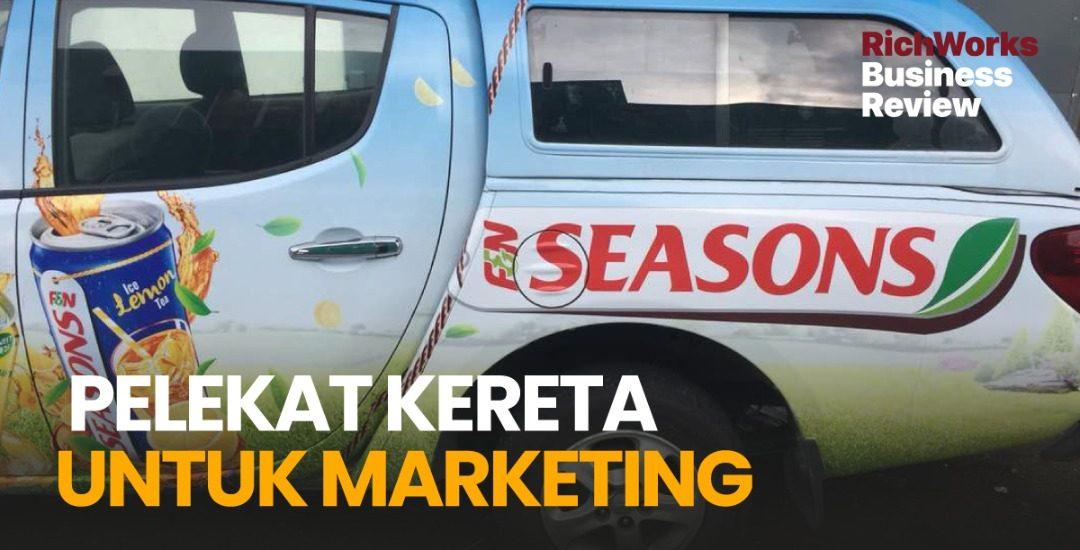 Pelekat Kereta Untuk Marketing