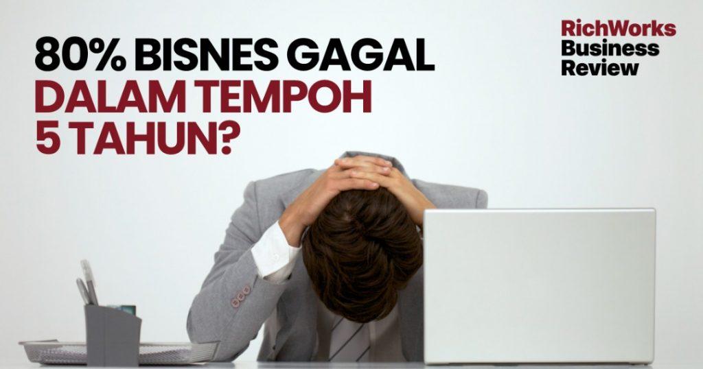 80% Bisnes Gagal Dalam Tempoh 5 Tahun?