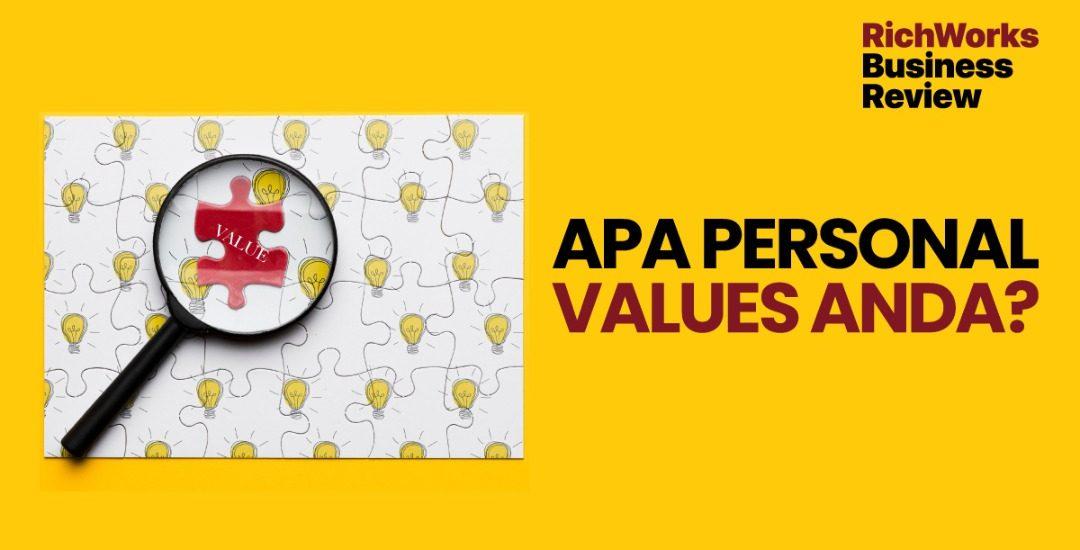 Apa Personal Values Anda