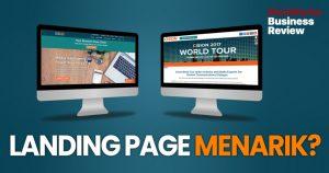 Landing page menarik